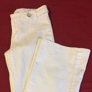 Banana Republic White Wide Leg Trousers Sz 4